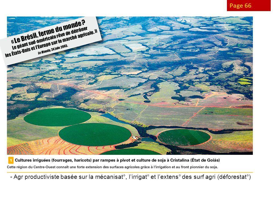 Page 66 - Agr productiviste basée sur la mécanisat°, lirrigat° et lextens° des surf agri (déforestat°)