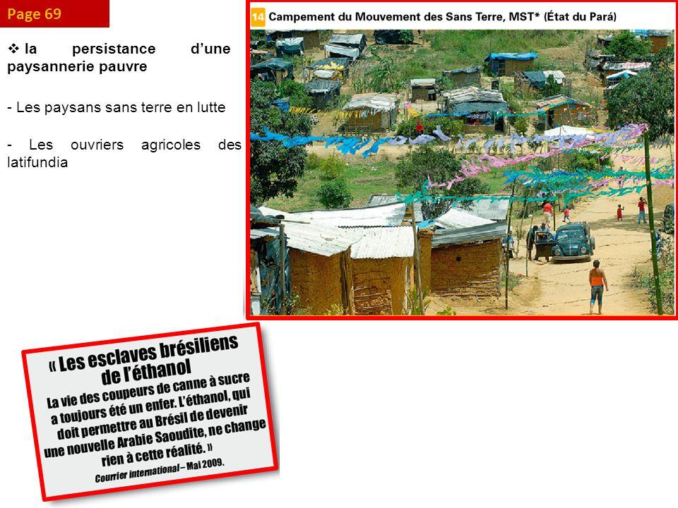 Page 69 la persistance dune paysannerie pauvre - Les paysans sans terre en lutte - Les ouvriers agricoles des latifundia