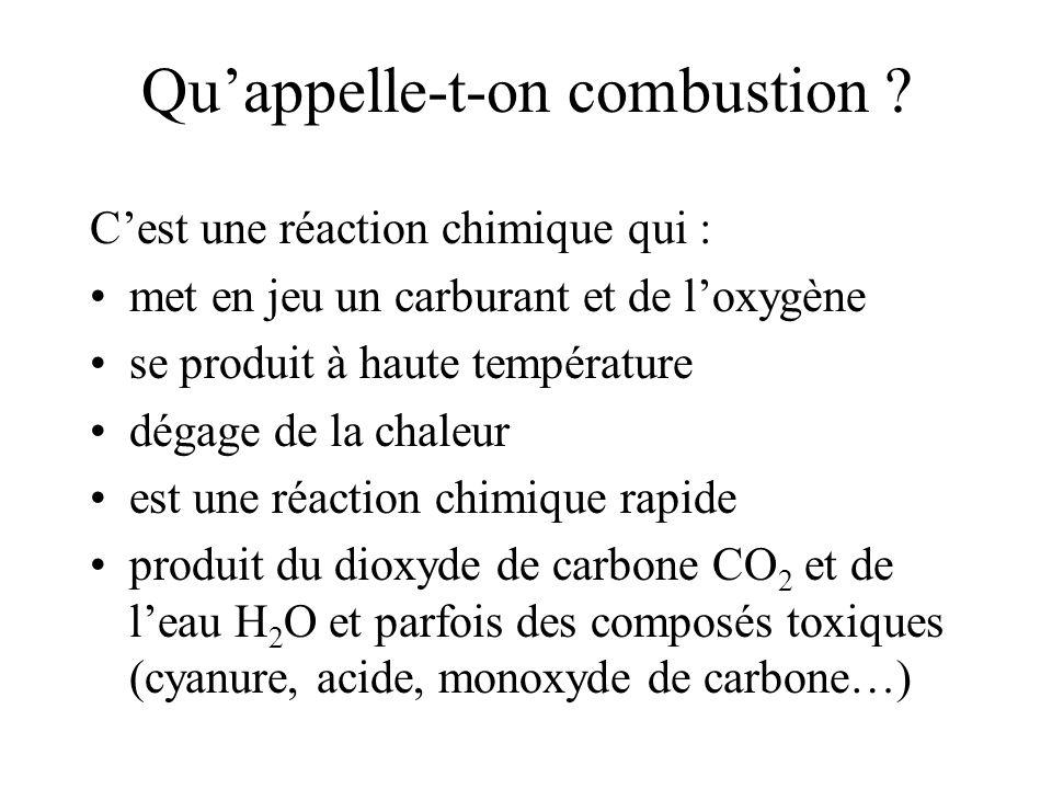 Quappelle-t-on combustion .
