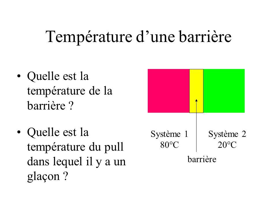 Température dune barrière Quelle est la température de la barrière .