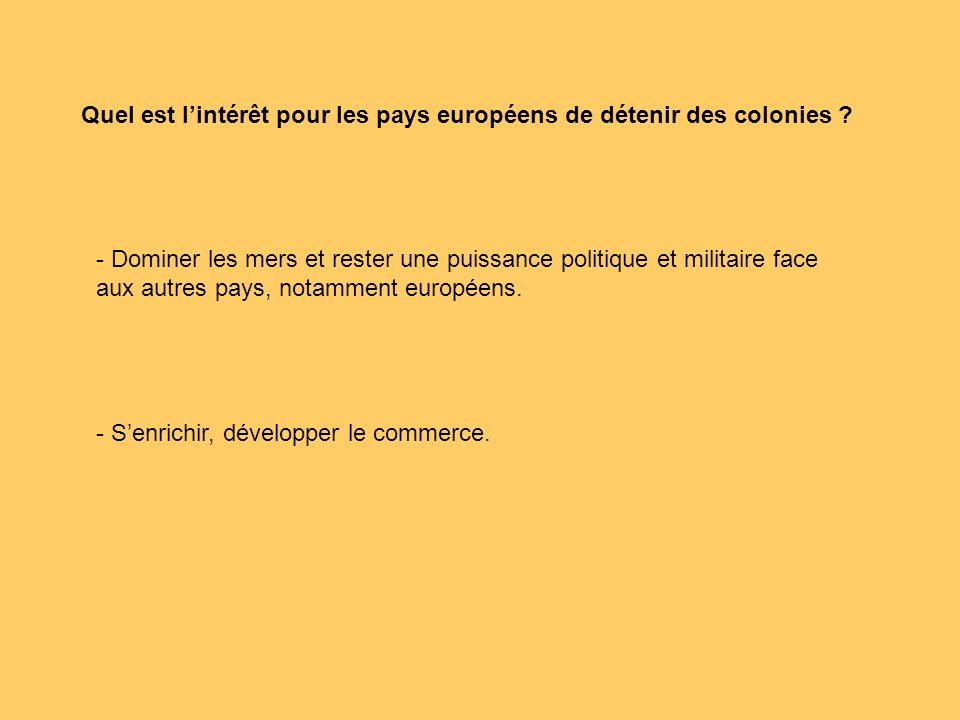 Quels sont les buts du commerce colonial français .