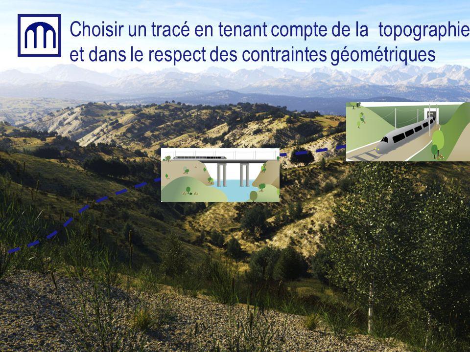 Choisir un tracé en tenant compte de la topographie et dans le respect des contraintes géométriques