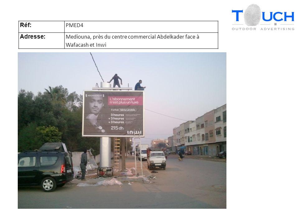 Réf: PMED4 Adresse: Mediouna, près du centre commercial Abdelkader face à Wafacash et Inwi