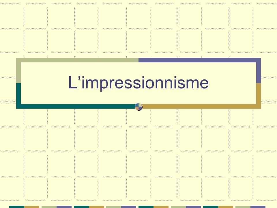 Limpressionnisme est un mouvement qui se développe en France vers 1862 autour de Claude Monet.