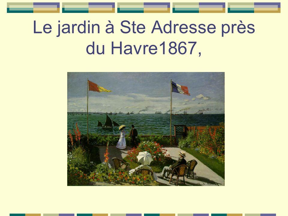 Le jardin à Ste Adresse près du Havre1867,