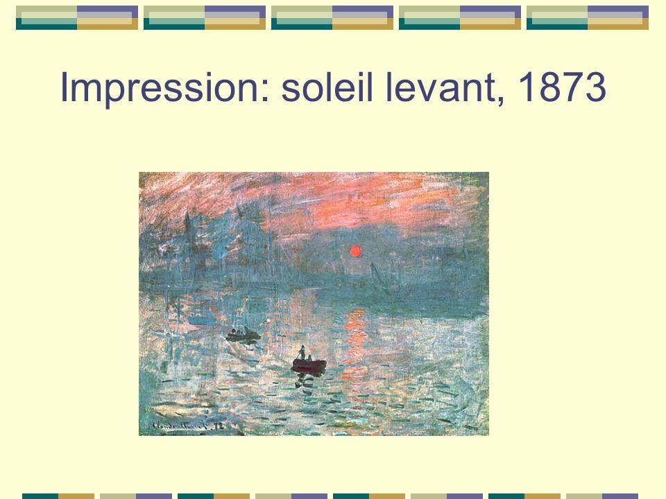 Impression: soleil levant, 1873