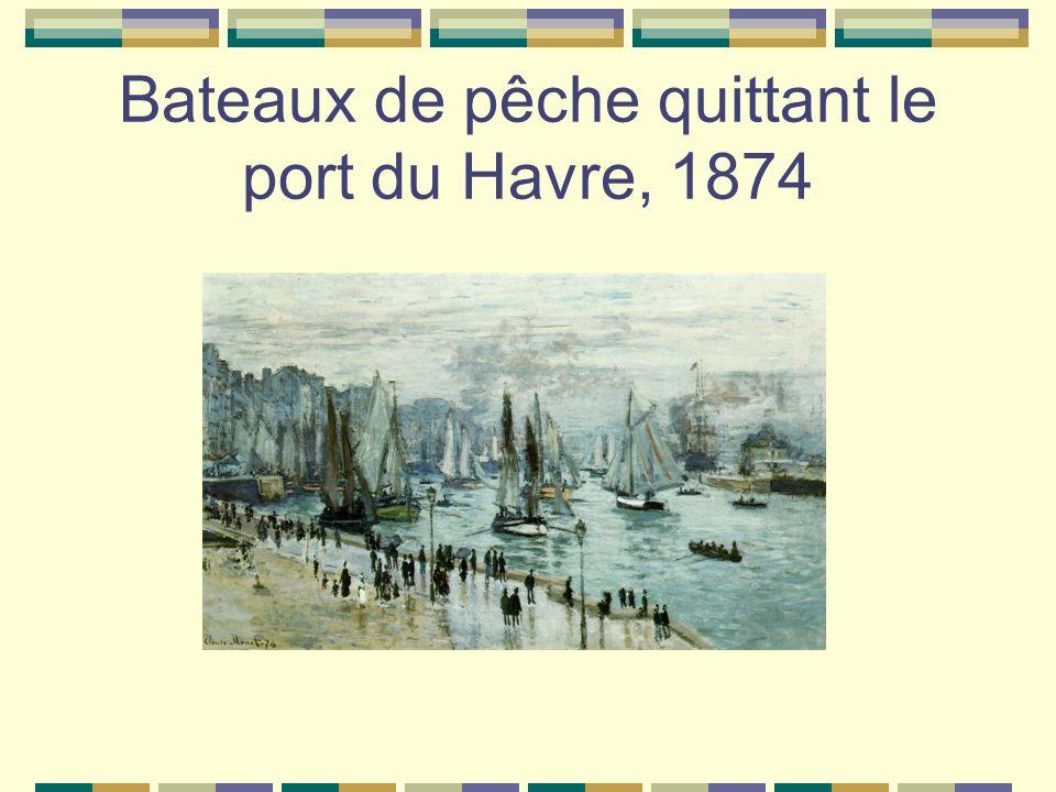 Bateaux de pêche quittant le port du Havre, 1874