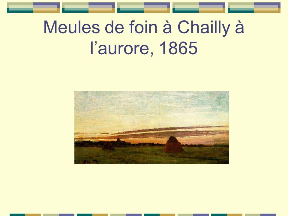 Meules de foin à Chailly à laurore, 1865