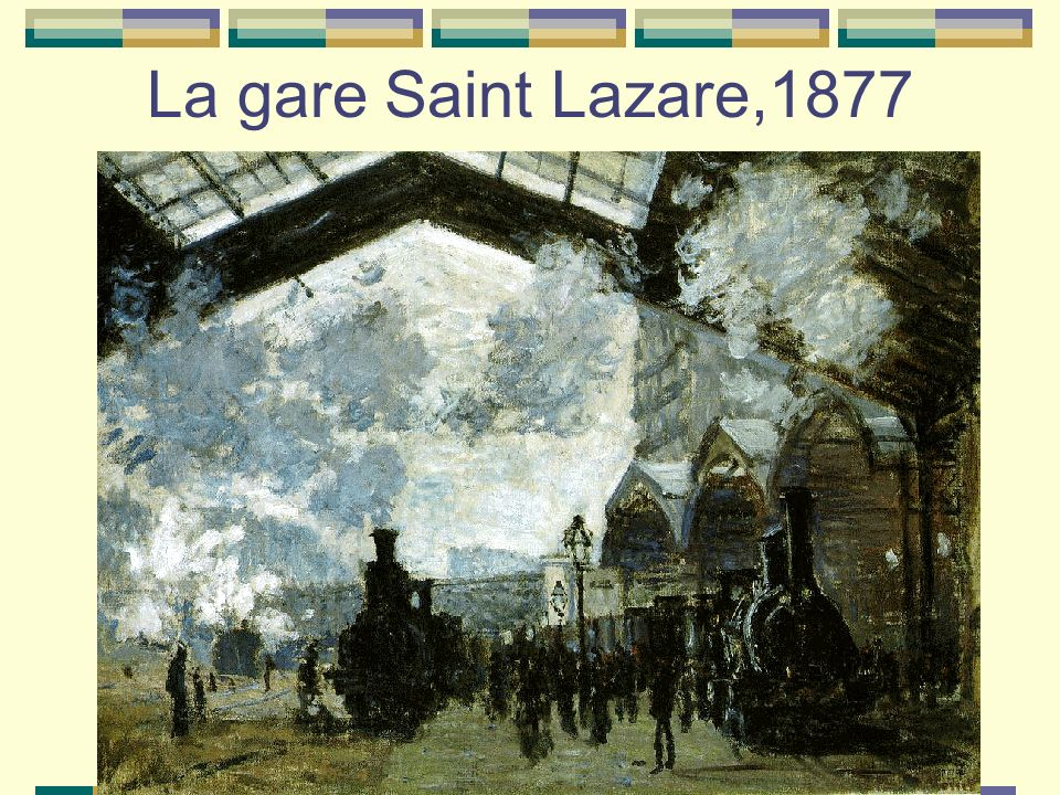 La gare Saint Lazare,1877