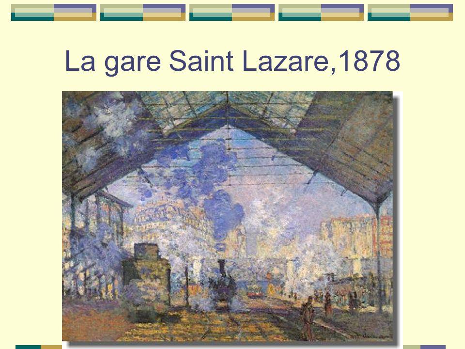 La gare Saint Lazare,1878
