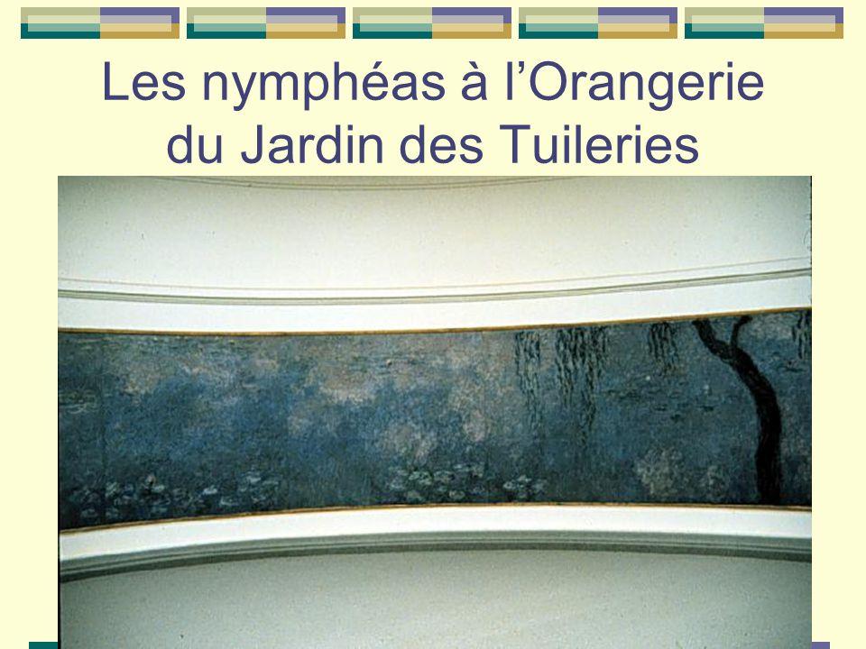 Les nymphéas à lOrangerie du Jardin des Tuileries