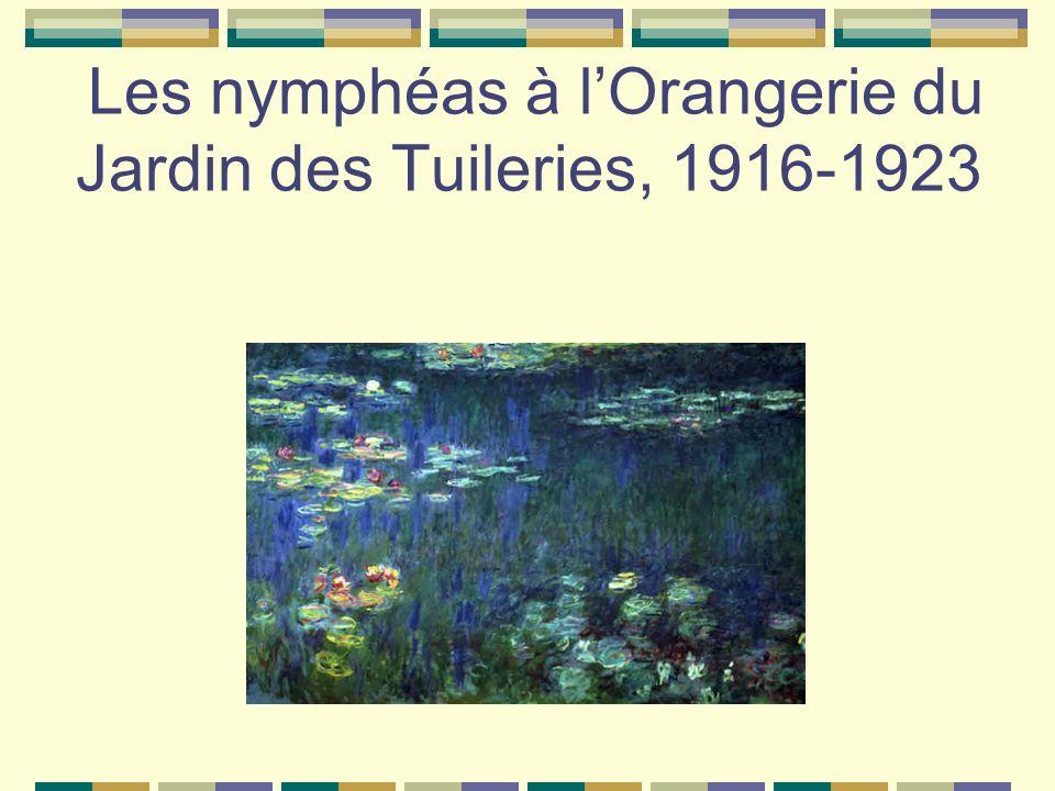 Les nymphéas à lOrangerie du Jardin des Tuileries, 1916-1923