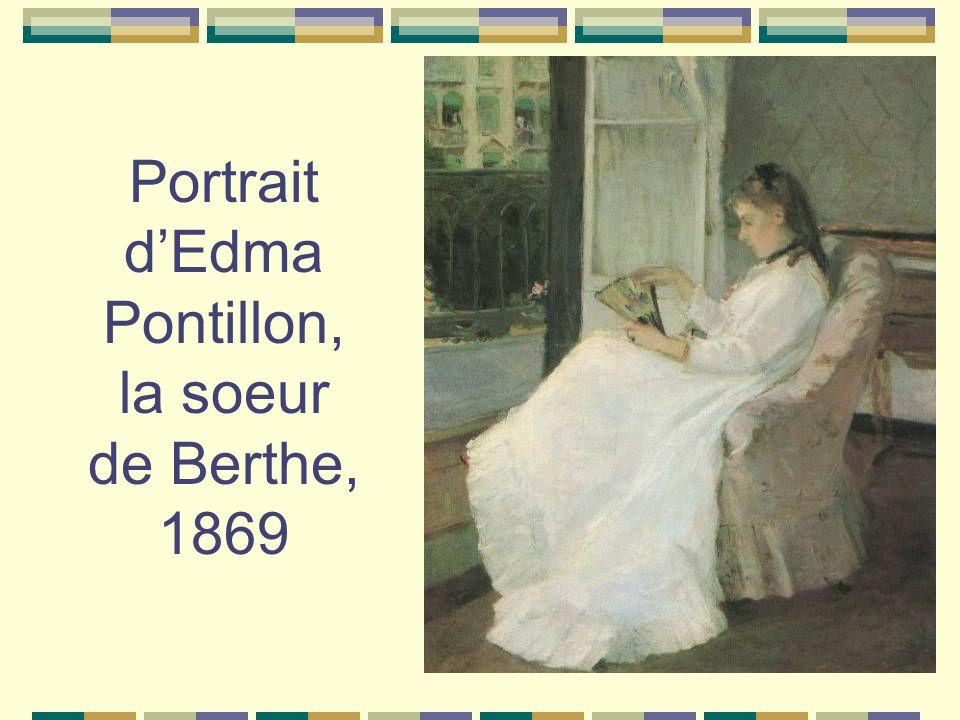 Portrait dEdma Pontillon, la soeur de Berthe, 1869