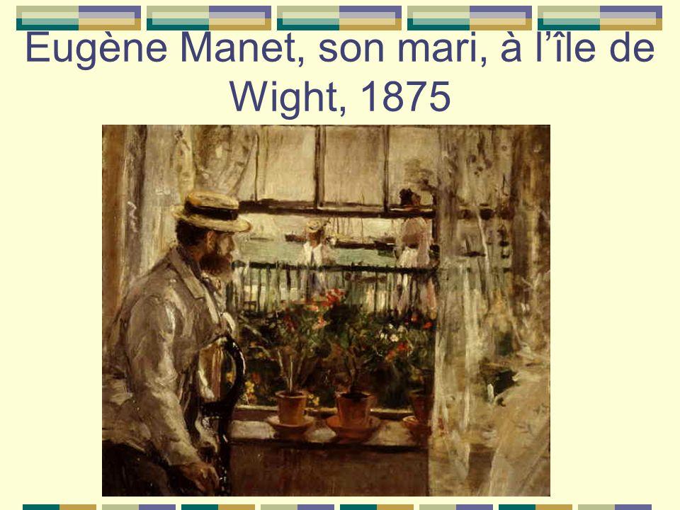Eugène Manet, son mari, à lîle de Wight, 1875