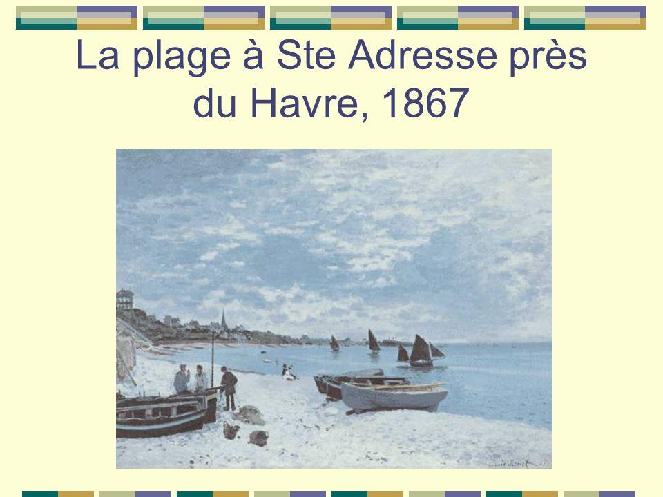 La plage à Ste Adresse près du Havre, 1867
