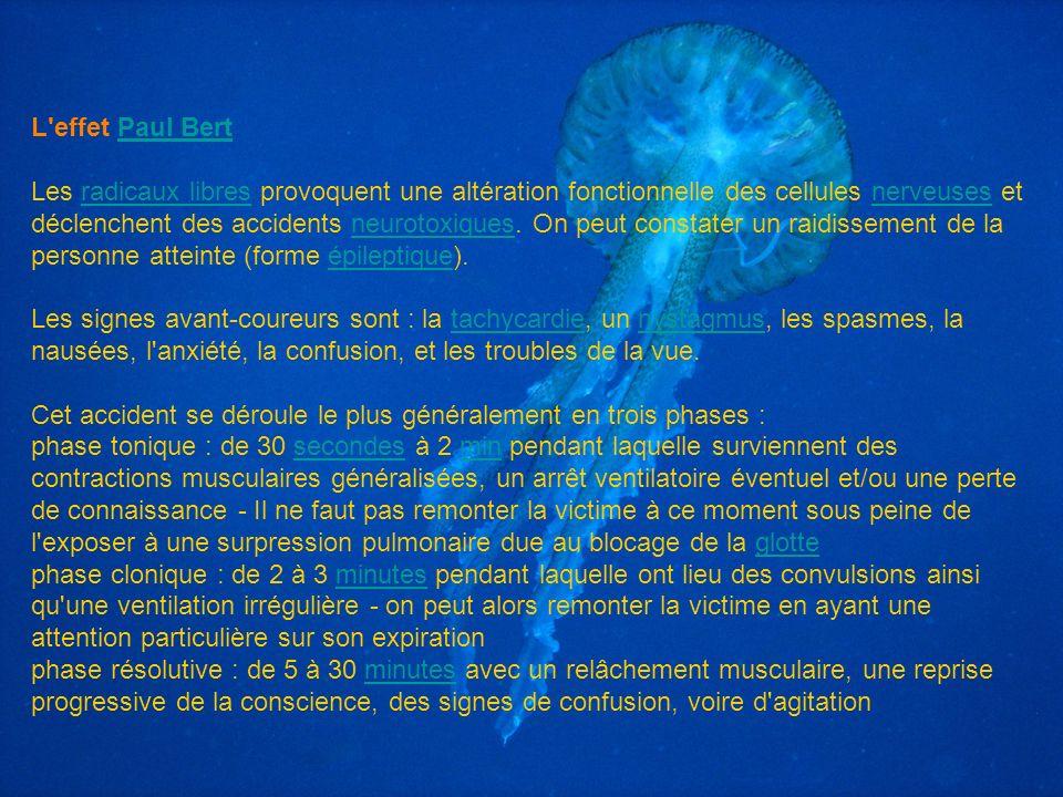 L'effet Paul BertPaul Bert Les radicaux libres provoquent une altération fonctionnelle des cellules nerveuses et déclenchent des accidents neurotoxiqu