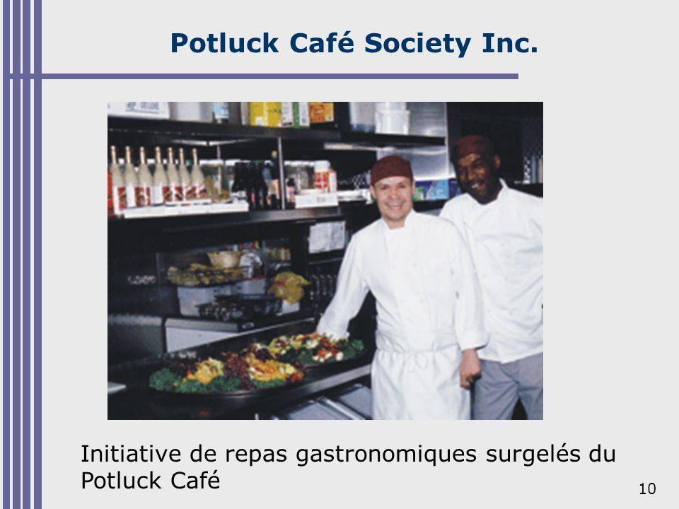 10 Potluck Café Society Inc. Initiative de repas gastronomiques surgelés du Potluck Café