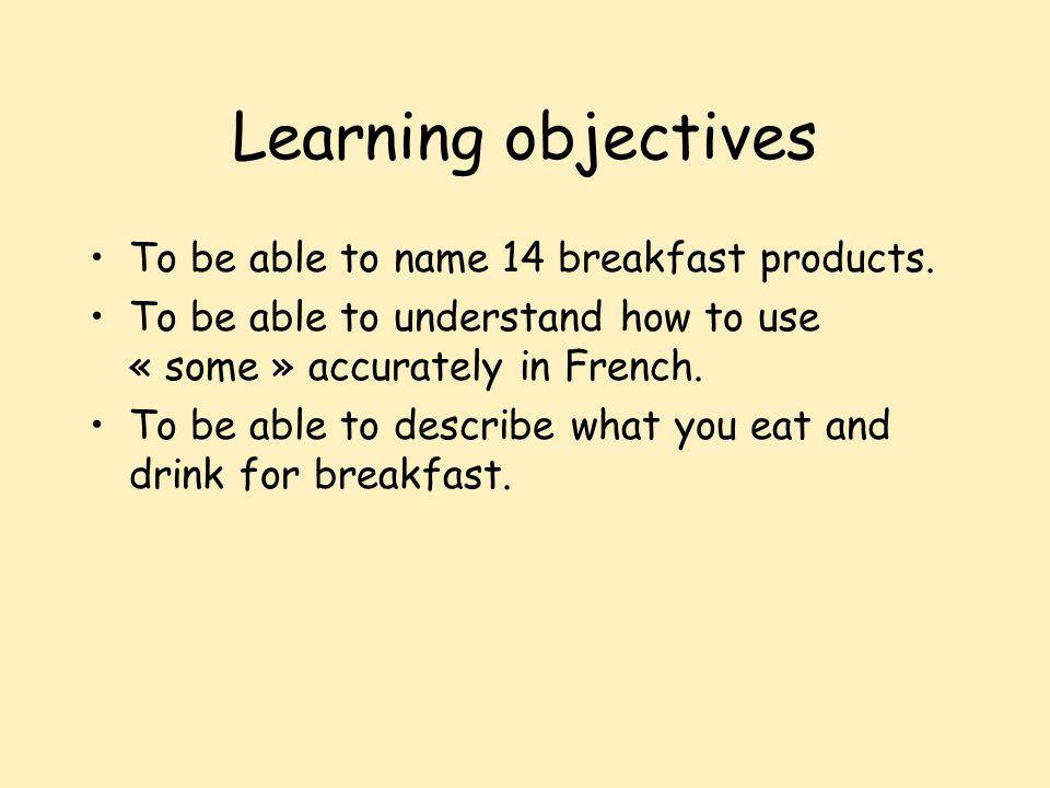 Ecriture Dhabitude, au petit déjeuner je mange du pain avec de la confiture et je bois du jus dorange.