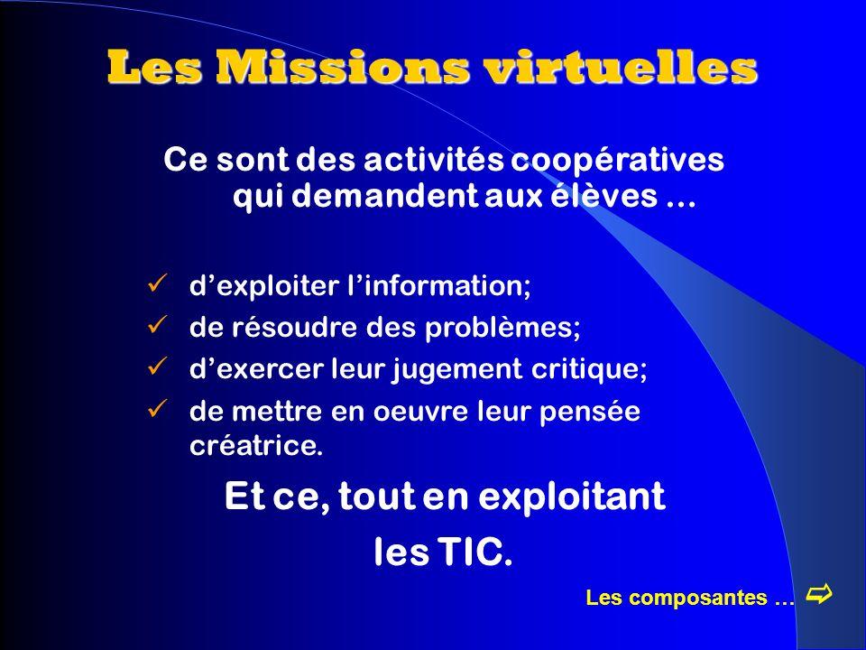 Mission virtuelle Les composantes dune Mission virtuelle 5.