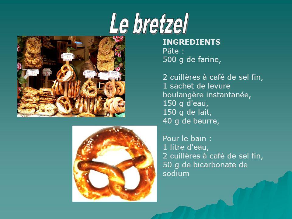 INGREDIENTS Pâte : 500 g de farine, 2 cuillères à café de sel fin, 1 sachet de levure boulangère instantanée, 150 g d'eau, 150 g de lait, 40 g de beur