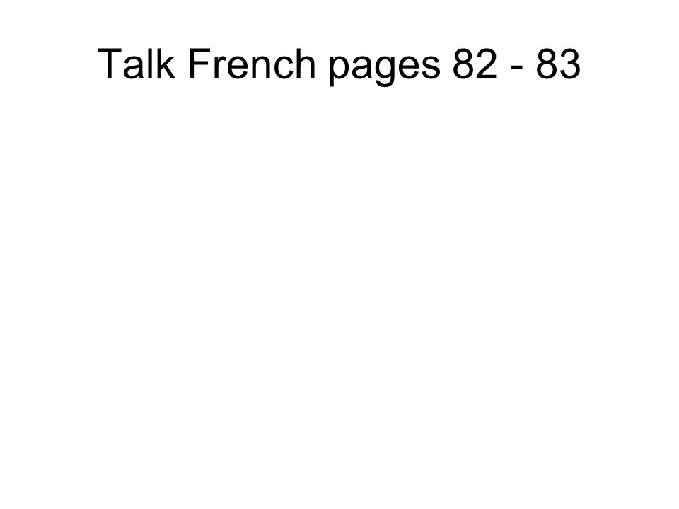 Talk French pages 80 - 81