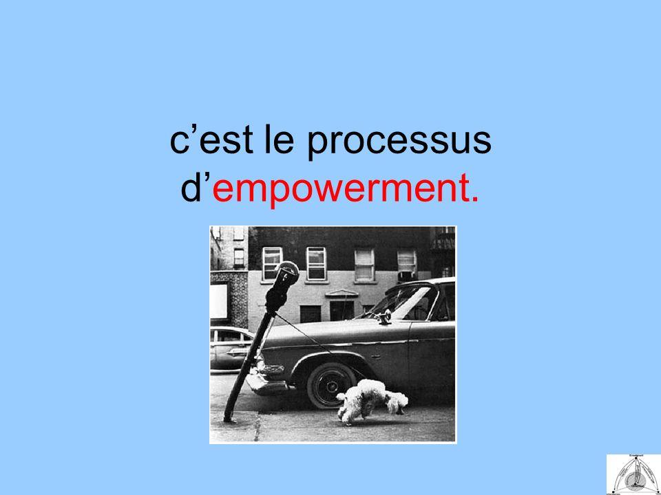 cest le processus dempowerment.