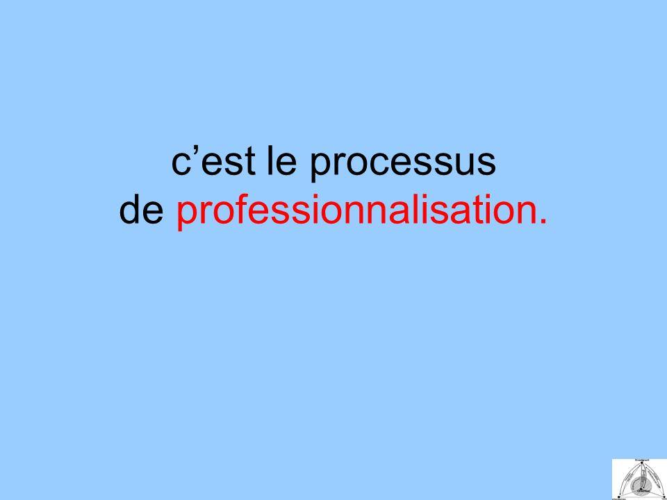 cest le processus de professionnalisation.