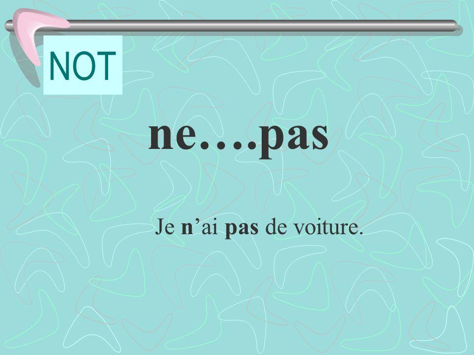 Pratique: LA POSITION AU PASSÉ COMPOSÉ I did nothing last night.