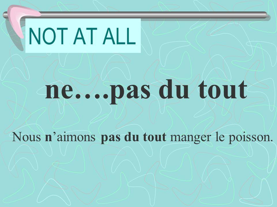 Pratique: LA POSITION AU PASSÉ COMPOSÉ I didnt visit either Paris or Nice.