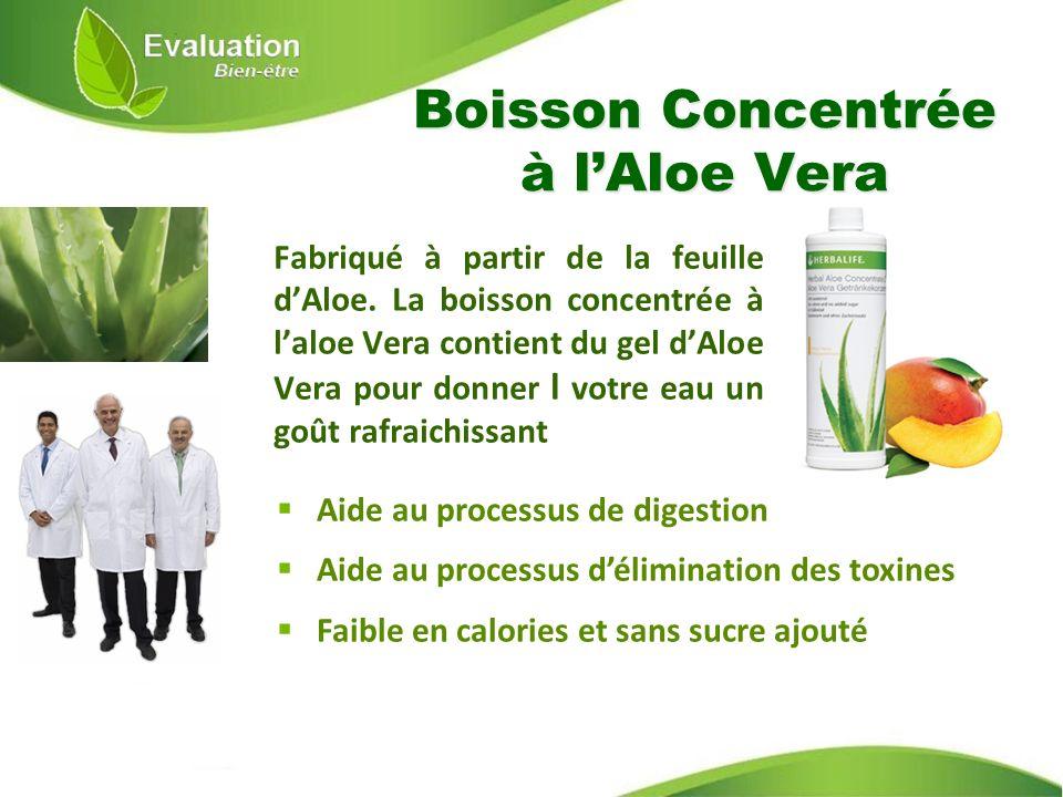 Boisson Concentrée à lAloe Vera Aide au processus de digestion Aide au processus délimination des toxines Faible en calories et sans sucre ajouté Fabr
