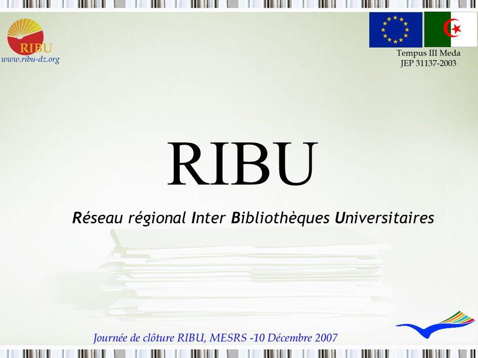 RIBU Réseau régional Inter Bibliothèques Universitaires
