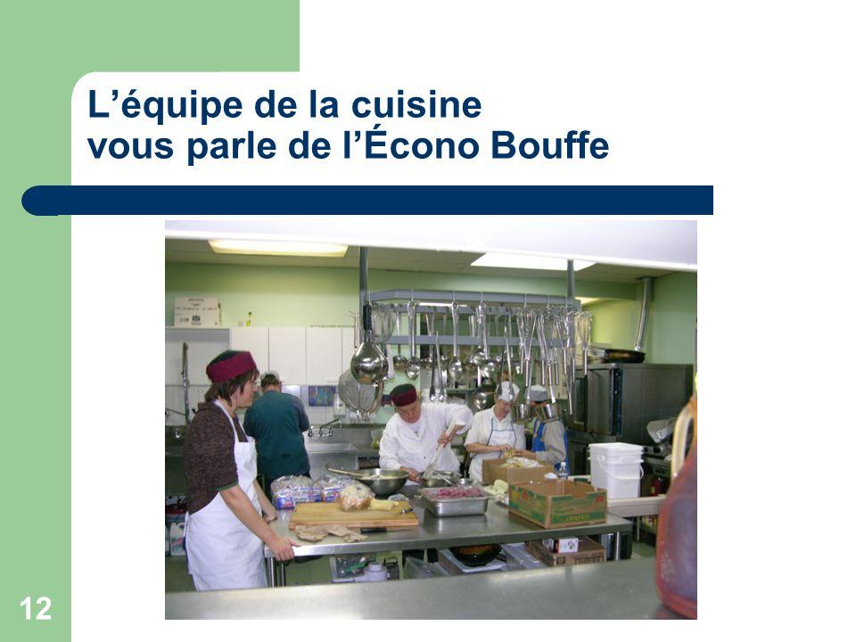 12 Léquipe de la cuisine vous parle de lÉcono Bouffe