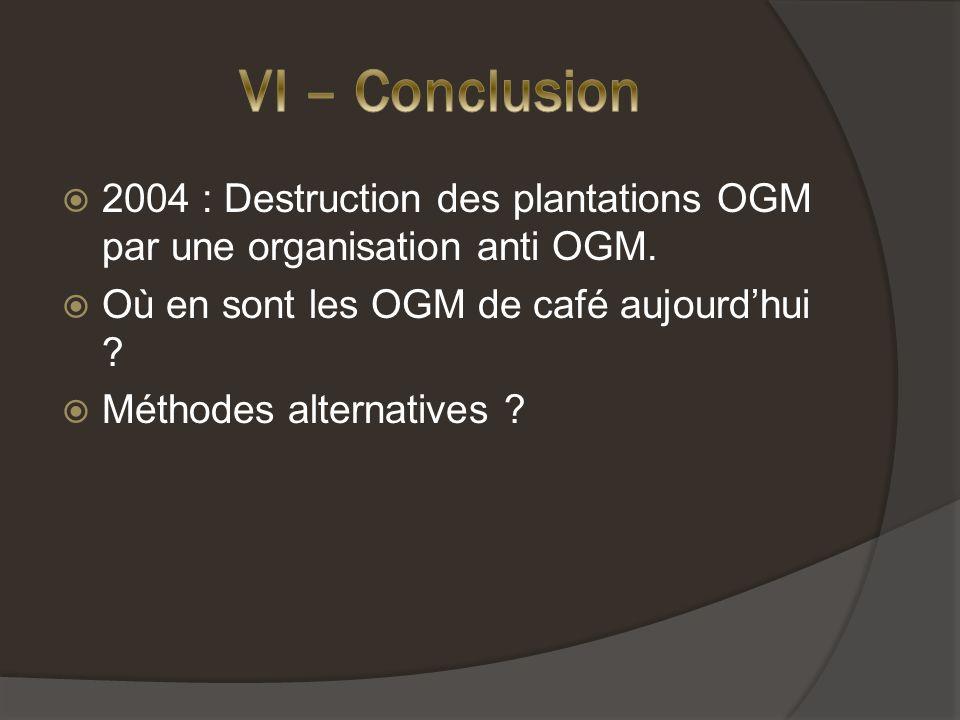 2004 : Destruction des plantations OGM par une organisation anti OGM.