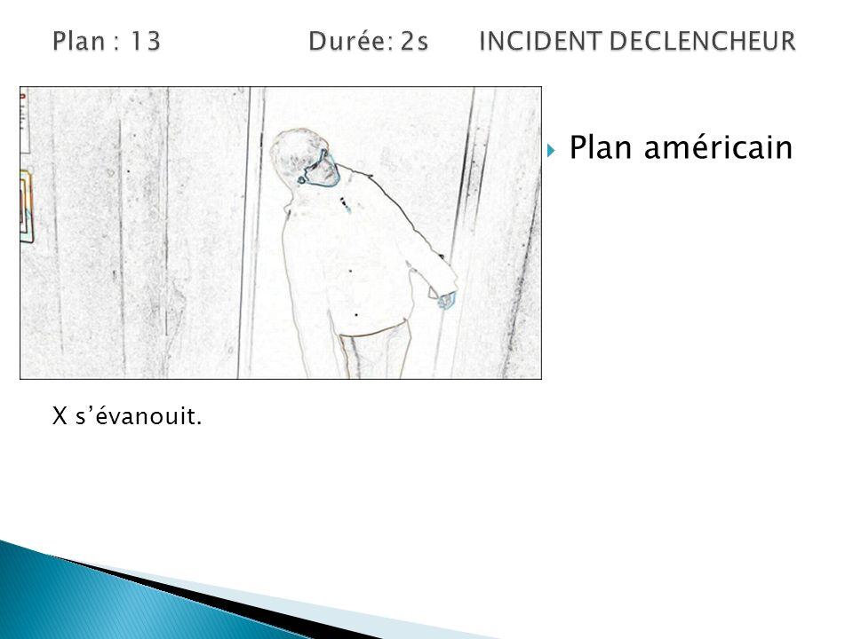 Plan américain X sévanouit.