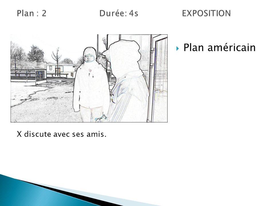 Vue subjective Plan américain Mais X se retourne avec le gâteau.