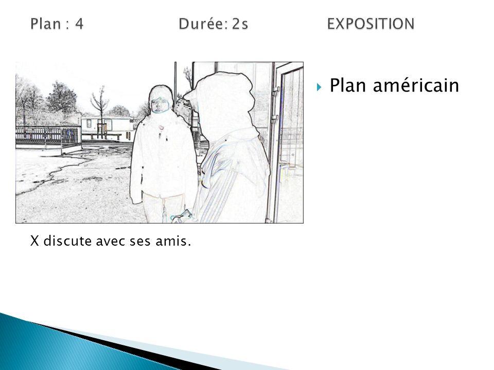 Plan américain X discute avec ses amis.