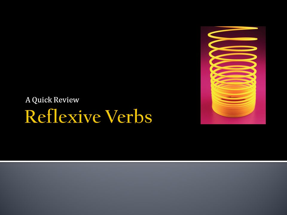 Reflexive verbs usually indicate that the action is performed on ones self or that that the action is mutual between two people.