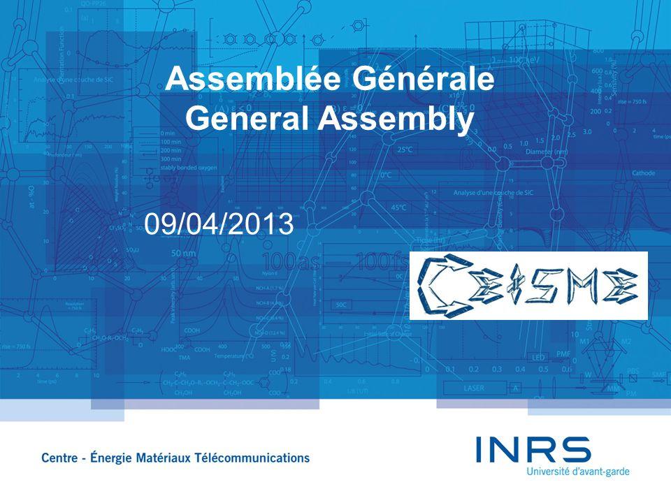 Assemblée Générale General Assembly 09/04/2013