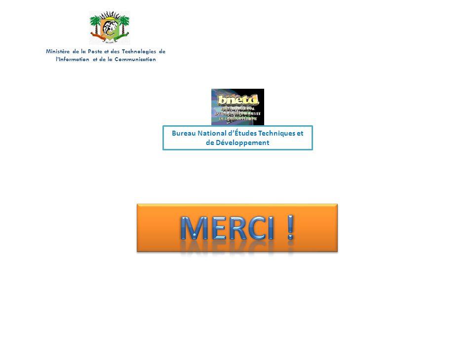 Ministère de la Poste et des Technologies de lInformation et de la Communication Bureau National dÉtudes Techniques et de Développement