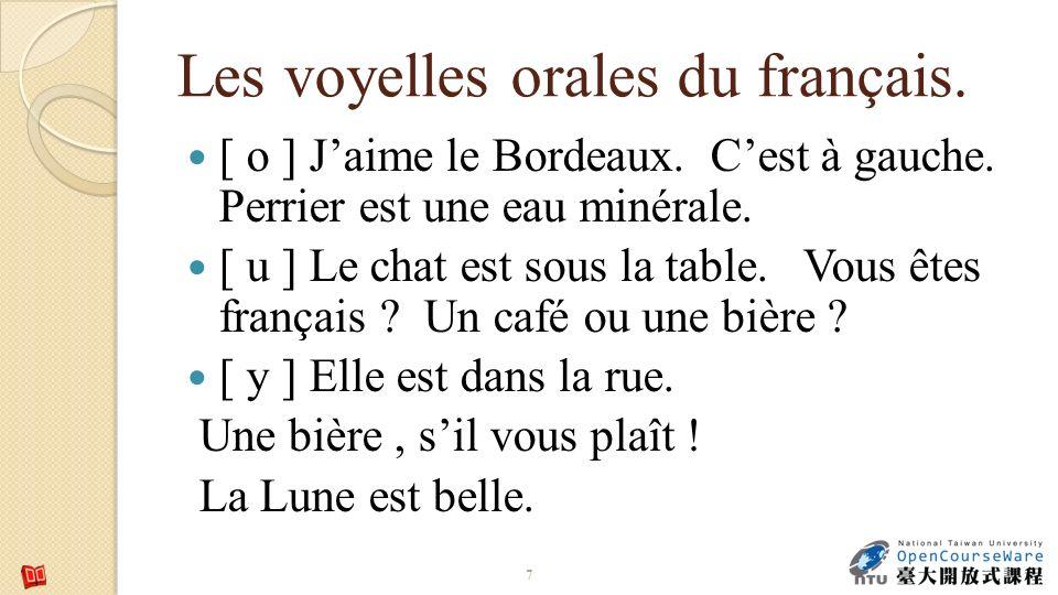 Les voyelles orales du français. [ o ] Jaime le Bordeaux.