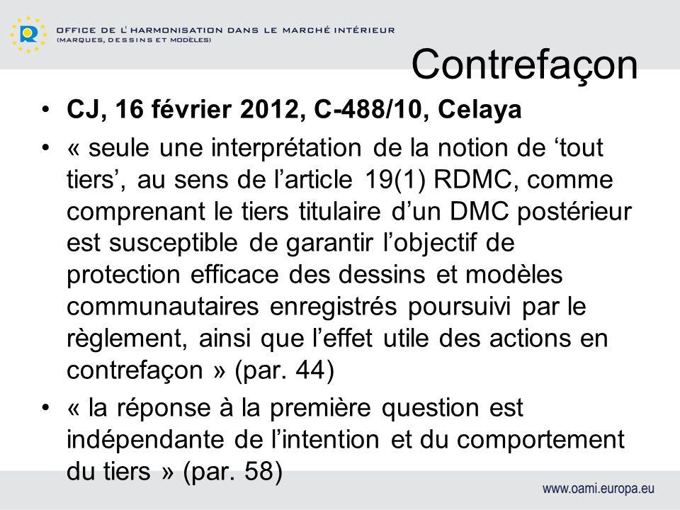 Manuel Pratique Invalidité: 1 er juin 2012 http://oami.europa.eu/ows/rw/pages/RCD/le galReferences/OHIMDesignManual.fr.do Examen: 3 décembre 2012