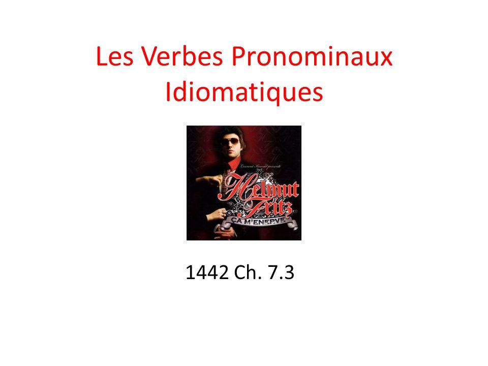 Les Verbes Pronominaux Idiomatiques 1442 Ch. 7.3