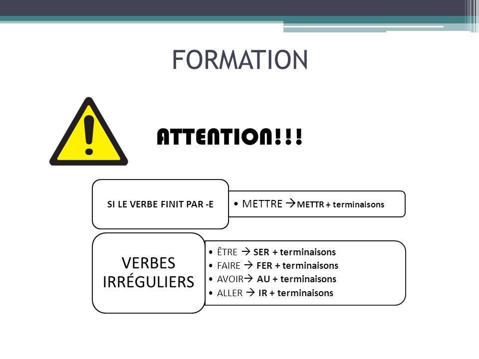 ACTIVITÉS JEU DE LOIE http://www.bonjourdefrance.com/n12/jeux/oiebdf6.html EXPLICATION ET EXERCICES http://www.tinglado.net/?id=futur EXPLICATION INTÉRACTIVE http://www.edu.xunta.es/espazoAbalar/sites/espazoAbalar/fils/datos/1294126494/contido/escenario.html DÉCOUVERTE DU FUTUR SIMPLE http://insuf-fle.hautetfort.com/media/01/02/498168104.pdf