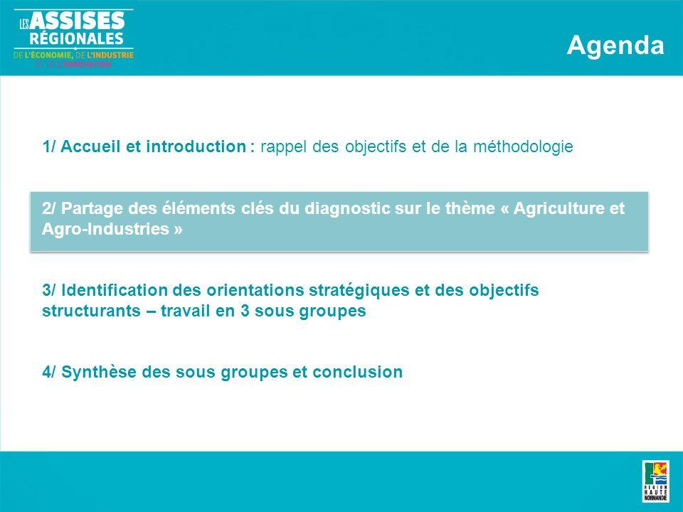 Présentation des synthèses des travaux de groupe Synthèse des sous groupes et conclusion Une dynamique déconomie locale pour stimuler la filière agro-industrielle Valeur ajoutée, valorisations alimentaire et non- alimentaire des agro-ressources Accompagnement des acteurs de la production face aux changements