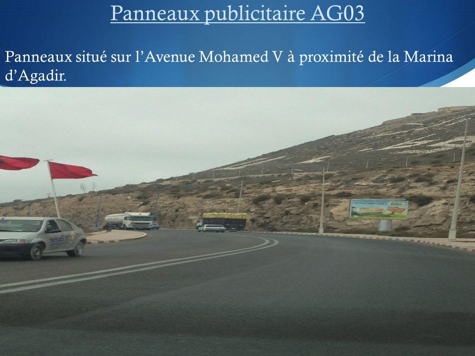 Panneaux publicitaire AG03 Panneaux situé sur lAvenue Mohamed V à proximité de la Marina dAgadir.