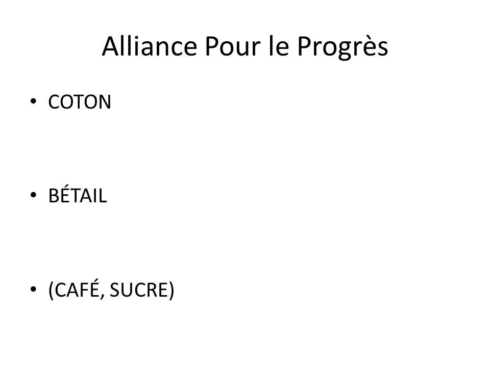 Alliance Pour le Progrès COTON BÉTAIL (CAFÉ, SUCRE)