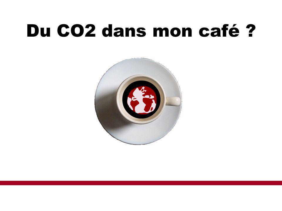Du CO2 dans mon café ?