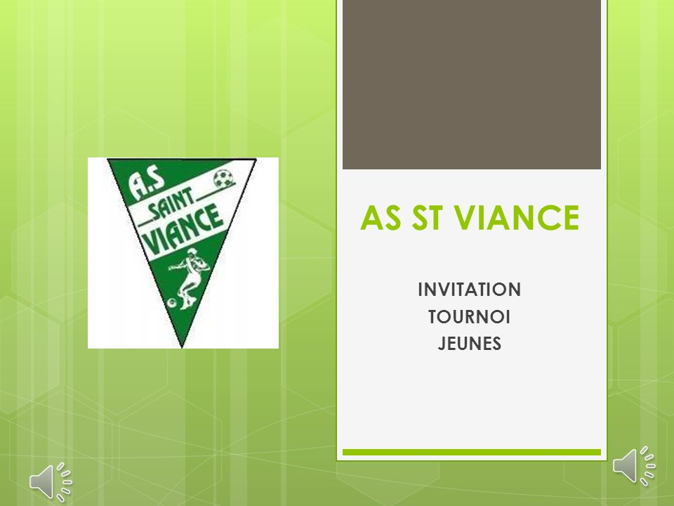 AS ST VIANCE INVITATION TOURNOI JEUNES
