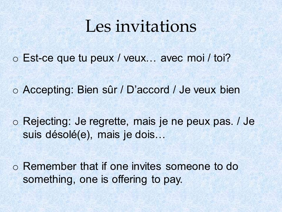 Les mots dinterrogation o For more exact information, use interrogative expressions at the beginning of a question.