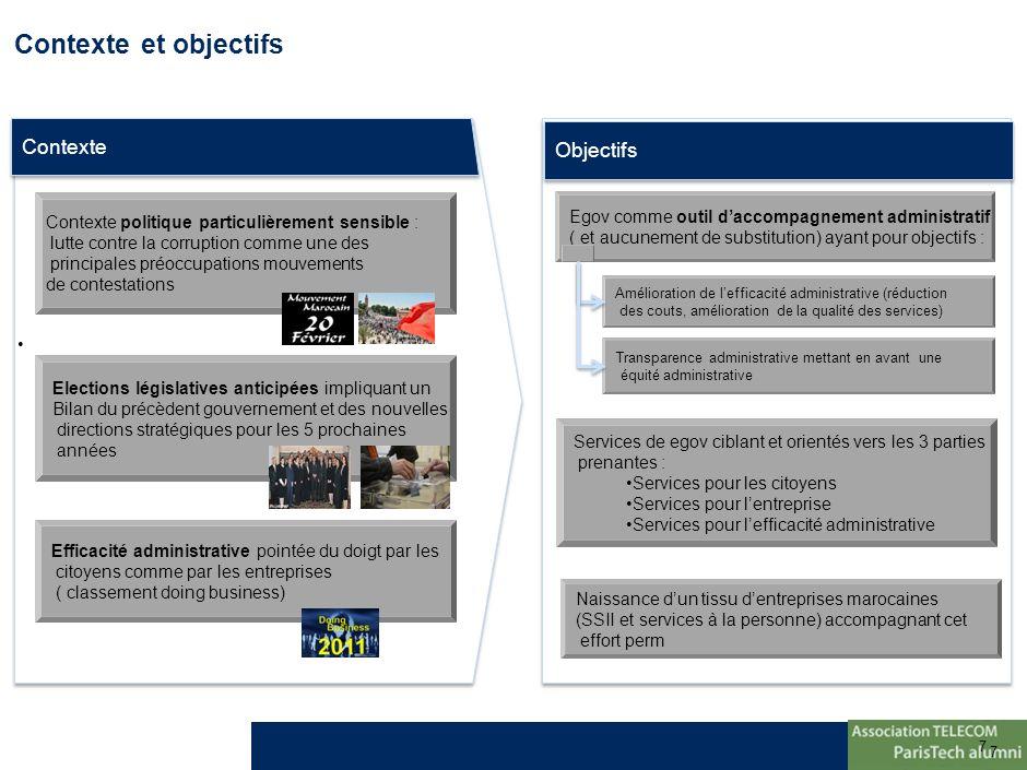 7 7 Contexte et objectifs Contexte Objectifs Contexte politique particulièrement sensible : lutte contre la corruption comme une des principales préoc